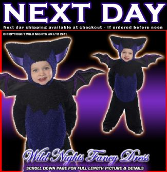 HALLOWEEN FANCY DRESS # BOYS/GIRLS BAT COSTUME TODDLER T1 AGE 1-2 YEARS